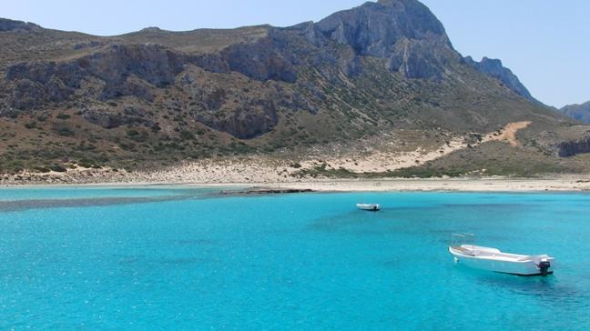 Bilde tatt på Kreta - Balos lagune. Fra familien Hauges fotoalbum.