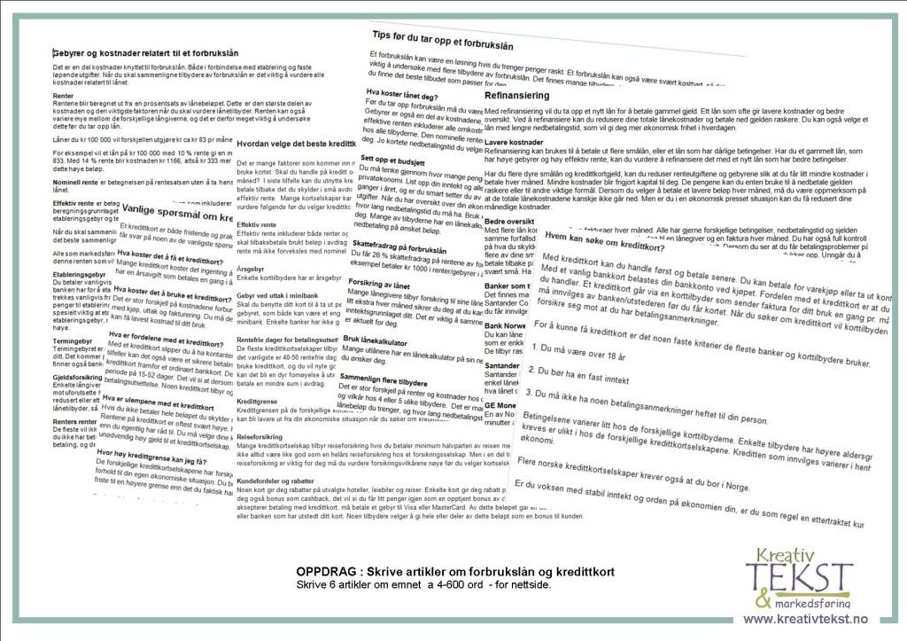 2014 JAN - ARTIKLER om forbrukslaan
