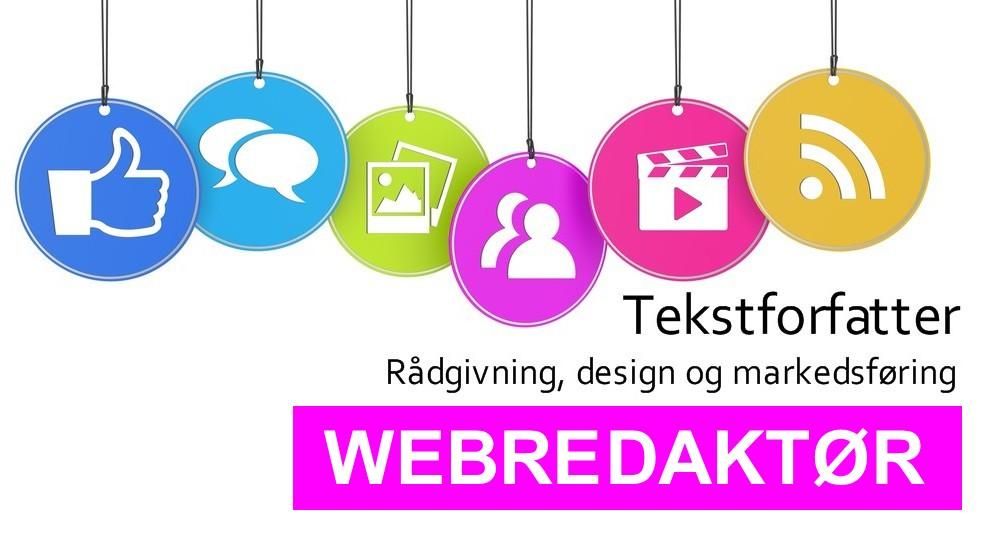 Tekstforfatter, rådgivning, design og markedsføring