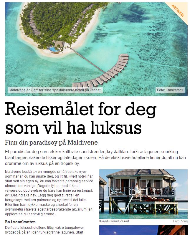 Reiseguiden - Maldivene