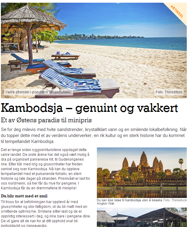 Skribent for reiseguiden - Kambodsja